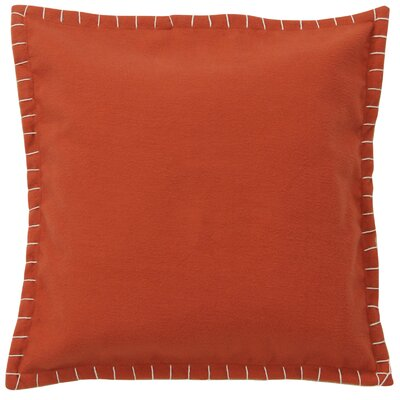 Evan Felt Throw Pillow Color: Orange