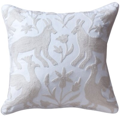 Eden Cotton Throw Pillow Color: Ivory