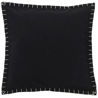 Evan Felt Throw Pillow Color: Black