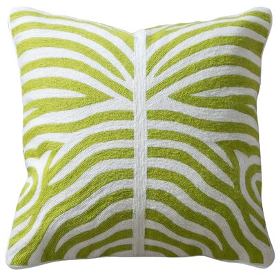 Elliott Cotton Throw Pillow Color: Green