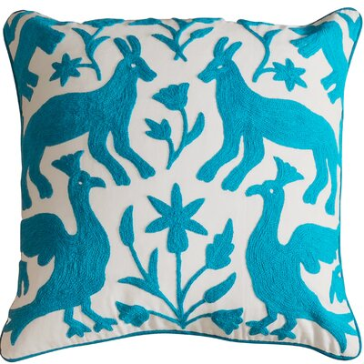 Eden Cotton Throw Pillow Color: Turquoise