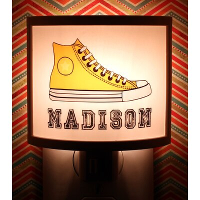 Yellow Sneakers Personalized Night Light