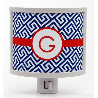 Greek Key Personalized Night Light