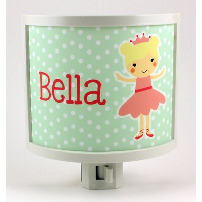 Blonde Ballerina Personalized Night Light