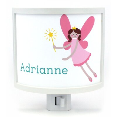 Teen Fairy with Brunette Hair Personalized Night Light