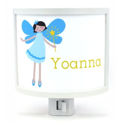 Teen Fairy with Black Hair Personalized Night Light