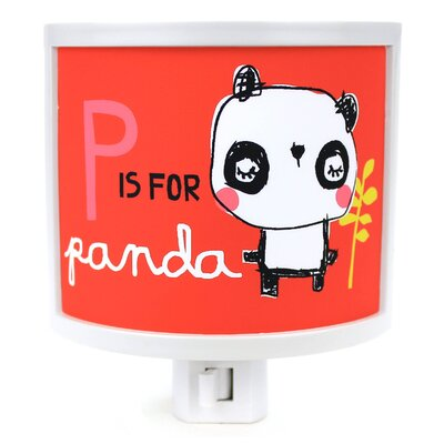 P is for Panda Night Light