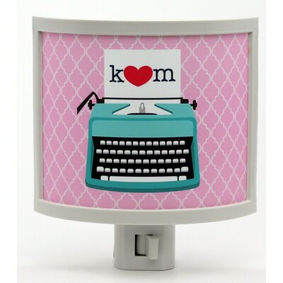 Mono Typewriter Love Personalized Night Light