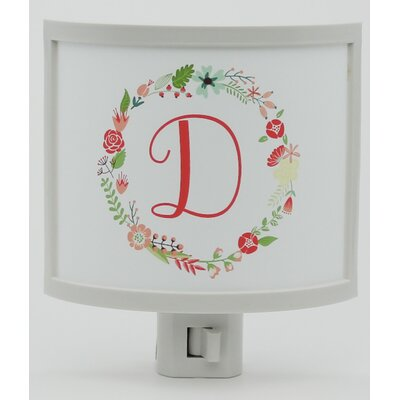 Mono Wreath Personalized Night Light