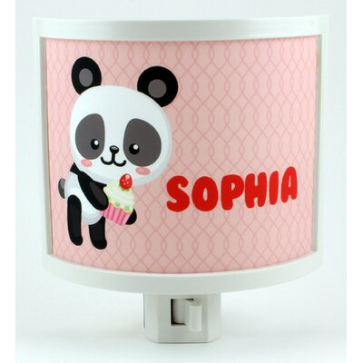 Panda Cupcake Personalized Night Light