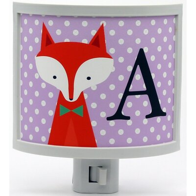 Mono Fox Personalized Night Light