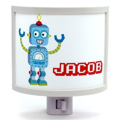 Silver Bot Personalized Night Light
