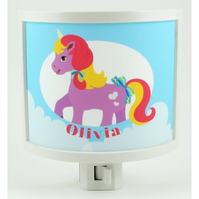 Purple Pony Personalized Night Light