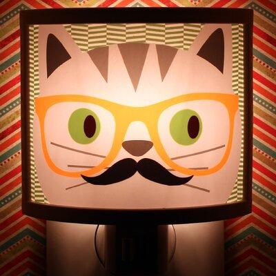 Glasses Cat Night Light