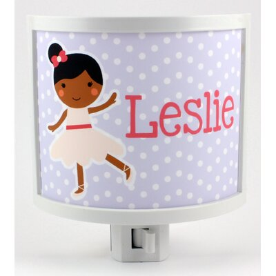 Lilac Ballerina Personalized Night Light