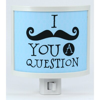 I Mustache You a Question Night Light