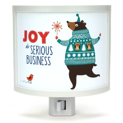 Joy is Serious Business Night Light