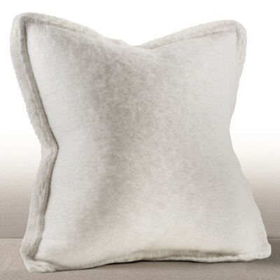 Karina Mohair Throw Pillow Color: Ivory