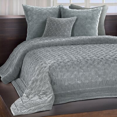 Meridian Quilt Color: Mist, Size: Queen