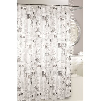 Invention Fabric Shower Curtain
