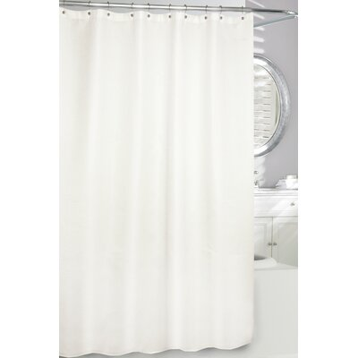 Waffle Fabric Shower Curtain Color: Natural