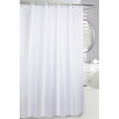 Waffle Fabric Shower Curtain Color: White