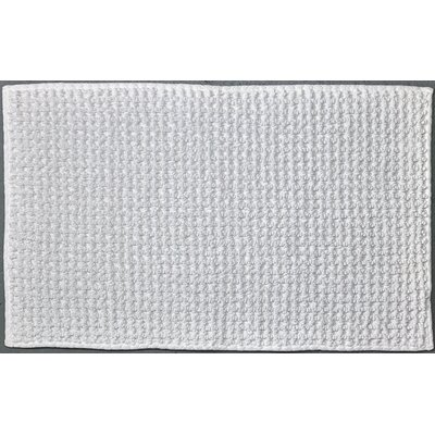 Waffle Reversible Cotton Rug Color: White
