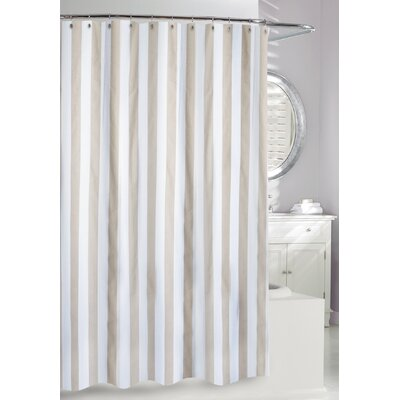 Lauren Stripe Shower Curtain Color: Beige