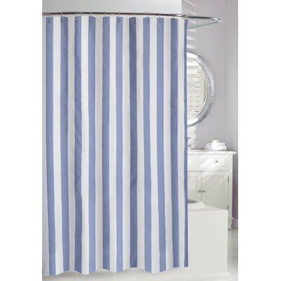 Lauren Stripe Shower Curtain Color: Denim