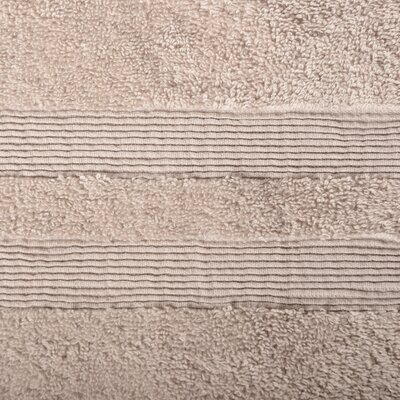 Allure Turkish Cotton 6 Piece Towel Set Color: Almond