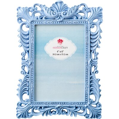 Serenity Baroque Picture Frame Color: Blue 12863