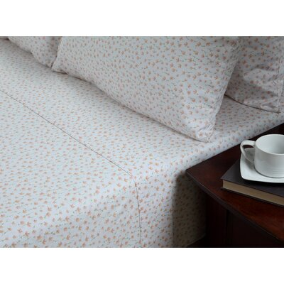 Ditsy Floral Abigail 300 Thread Count Cotton 3 Piece Sheet Set Size: King