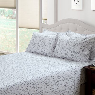 Ditsy Floral Lily 300 Thread Count Cotton 3 Piece Sheet Set Size: Queen