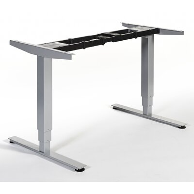 Quadro Height Adjustable Standing Desk Conversion Unit Finish: Silver