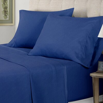 Sheet Set Size: King, Color: Navy