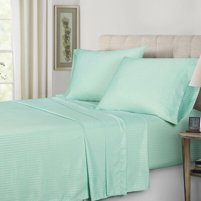 Polyester Sheet Set Color: Aqua, Size: Twin