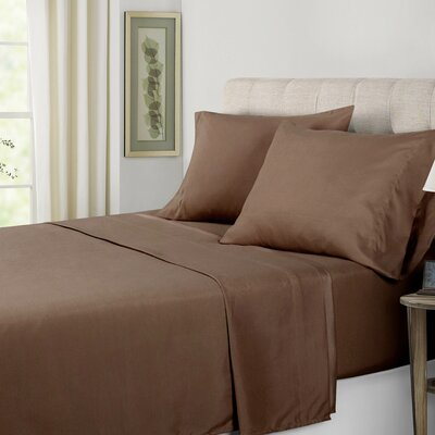 Sheet Set Color: Chocolate, Size: Queen