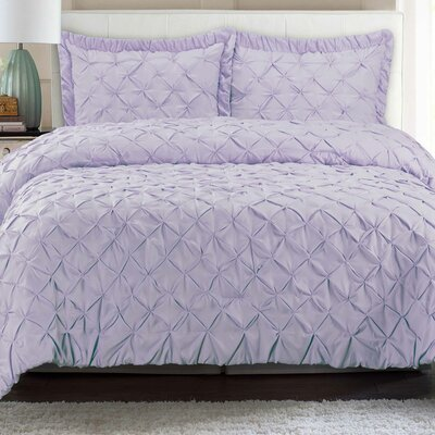 Quilt Set Color: Lilac, Size: King