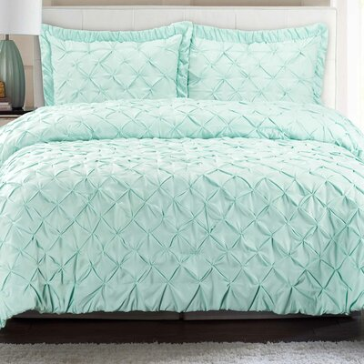 Quilt Set Color: Sea Glass, Size: King