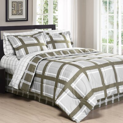 Gridwork Comforter Set Size: Full/Queen