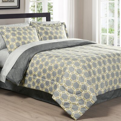 Central 3 Piece Comforter Set Size: Full/Queen
