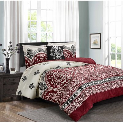 Swearingen 4 Piece Comforter Set Size: King