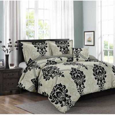 Swenson 4 Piece Comforter Set Size: King