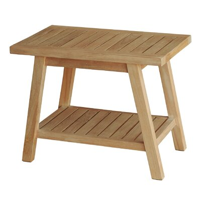 Spa Teak Wooden Free Standing Shower Seat