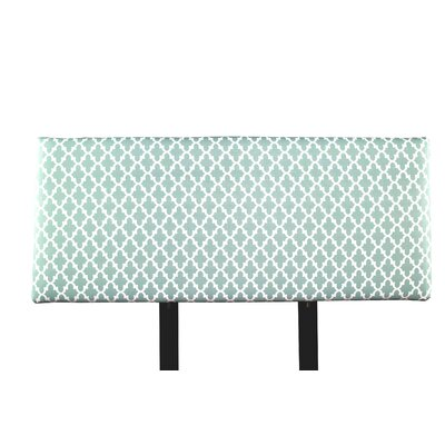 Alice Fulton Upholstered Panel Headboard Size: Full, Upholstery: Aqua/White