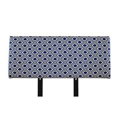 Alice Nicole Upholstered Panel Headboard Size: Full, Upholstery: Dark Blue/Gray
