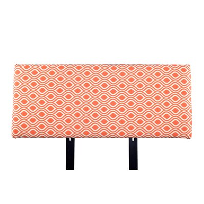 Alice Nicole Upholstered Panel Headboard Size: Twin, Upholstery: Orange/Gray