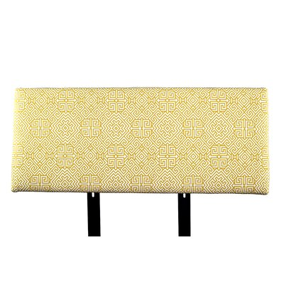 Alice Santorini Upholstered Panel Headboard Size: King, Upholstery: Orange/White