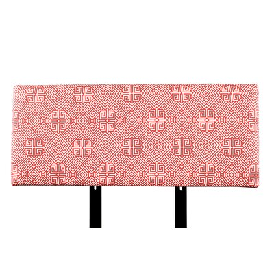 Alice Santorini Upholstered Panel Headboard Upholstery: Orange/White, Size: Twin