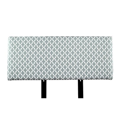 Alice Fulton Upholstered Panel Headboard Size: Full, Upholstery: Blue/Gray